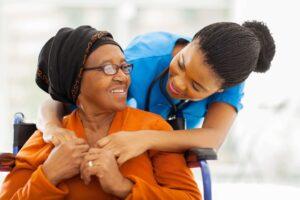 caregiver and senior